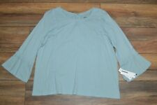Sonoma 3/4 Sleeve Embroidered Accent Green Slate Size Petite Small PS