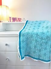 "Delicate Handmade Vintage Design Baby Blanket, As Seen On Tv ""Call The Midwife"""