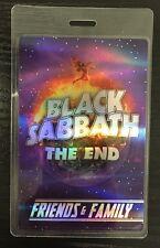 BLACK SABBATH The End Tour Friends & Family Laminate