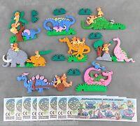 Satz Alltagsszenen aus der Urzeit mit allen 8 Zetteln 1995 Plastikpuzzle UeEi 3D