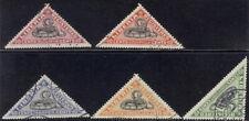 Liberia 1921 SNAKE registration triangles, used $ #F20-24