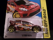HW HOT WHEELS 2015 HW OFF-ROAD #78/250 '12 FORD FIESTA  HOTWHEELS DARK RED
