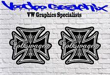 """VOLKSWAGEN Extra Grande 17"""" logo Calcomanías Adhesivas X2 Transporter T6 T5 T4 caravanas"""