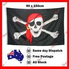 Jolly Roger Skull & Crossbones Pirate Flag Outdoor Black 150x90cm 5x3ft