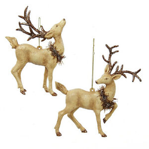 Deer with Wreaths Ornament