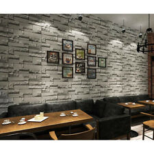 10m Non-woven Wall Paper Roll BrickWallpaper for Living Room TV Background