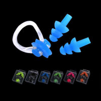 Unisex Silicone Nose Clip Ear Plugs Set Kids Adult Water Pool Sea Swimming Tool