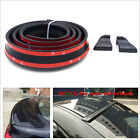 NEW Black No Drilling Rear Tail Fin Empennage Trunk Spoiler Wing Body Kit Trim