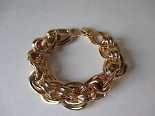 Banana Republic Double  Gold Clasp Bracelet BR Paved Necklace NWT $29.50