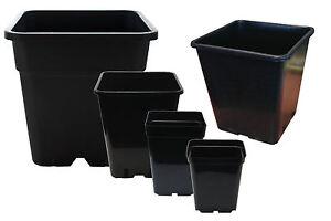 (4 Pack) Quality Square Plant Pots - Various Sizes