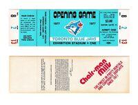 Opening Game Blue Ticket 1977 Toronto Blue Jays Unused First Season Stub MLB
