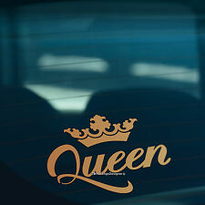 QUEEN CROWN Gold Funny Car,Window,Bumper or Laptop DUB DRIFT Vinyl Decal Sticker