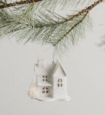 New Joanna Gains Magnolia Market Christmas Paper House Ornaments Peach Street