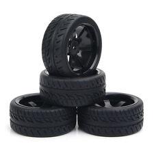 4Pcs 1:10 Flat Drift Tires Wheel Rims Set For HPI HSP RC On-Road Car PP0072/150