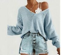 Sweater Knitted sweater Fashion Solid Casual Blouse Long Sleeve T-shirt Women's