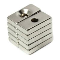 Als _ 10Pcs 20x10x4mm Quader 4mm Loch N52 Super Stark Selten Erde Magneten