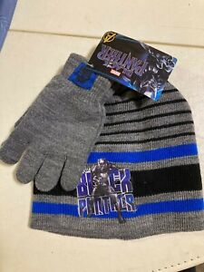 Black Panther Boys Hat and Gloves