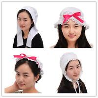 Vintage Girls Colonial MOP Hat Bonnet Maid Pionner Headpiece Carnival Headwear