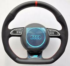 AUDI S Line ALCANTARA A6 S6 RS6 A7 S7 RS7 A8 S8 RS8 Flat Bottom Steering wheel