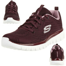 Skechers Trainers Women 12615 Wine Red