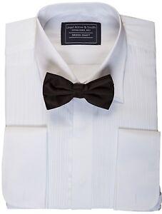 """MENS EVENING DINNER DRESS TUX TUXEDO SHIRT & BOW TIE SET 14 15 16 1/2 """""""