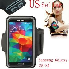 For Samsung Galaxy S5 I9600 S4 I9500 Exercise Running Arm Band Soft Cover Case