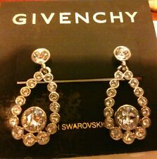 Givenchy Earrings, Silver-Tone Swarovski Element Teardrop Earrings