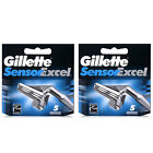 10 Blades Gillette Sensor Excel Razor Blades Cartridges Refill Factory Sealed