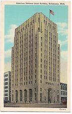 American National Bank Building Kalamazoo Michigan Mi Postcard Linen Unused