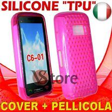 Cover Silicone TPU Fuchsia For Nokia C6-01