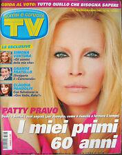 TV Sorrisi-'08-PATTY PRAVO,Simona Ventura,Lina Carcuro,Gianni Morandi,J. Foster