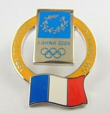 Athens Olympic Games 2004 Pin Badge - Official Nation Flag By Trofe - France