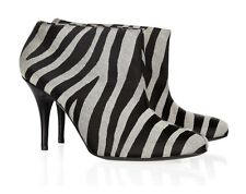 Stella McCartney Animal Zebra - Patterned Canvas Ankle Boots Shoes size 36