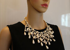Make a Statement! D&G Runway |Dolce & Gabbana Vintage Pearl & Crystal Necklace
