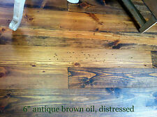 "8"" prefinished distressed wide plank plank pine flooring, heart pine"
