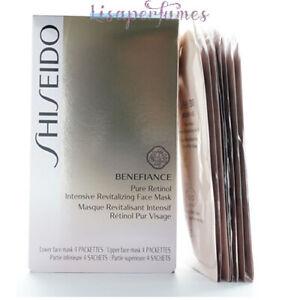 Shiseido Benefiance Pure Retinol Intensive Revitalizing Face Mask 4 Pairs