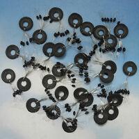 100x Gummistopper Laufposen Posen Gummi-Schnurstopper zum Angeln Angelzubeh J1Y0