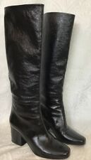 Christian Dior Boots Black Patent Knee-HighSize 39
