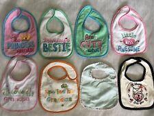 Lot Of 8 Baby Girl Bibs Feeding Cloth