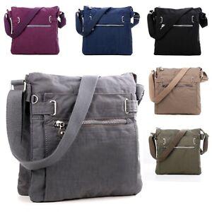 Women Large Cross Body Bag Washable Nylon Light Weight Ladies Shoulder Bag