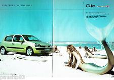 PUBLICITE ADVERTISING 056  2003  la Renault Clio Billabong ( 2p) seins nus