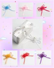 Pack 12 Bow Organza Satin Bow Diamante Self Adhesive Gifts Crafts Wedding Xmas