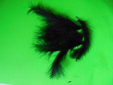 lot 10 plumes marabou noir 10 cm