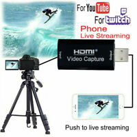 HDMI to USB Video Capture Card 1080P HD Recorder Video Live Streaming 2.0 3.0