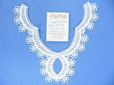 "White  Embroidered  Venise Yoke Applique 6 1/2"" x 5 1/2"" Made in USA"