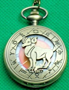 """Pocket watch, """"ZODIAC SIGHNS"""" Choose your DOB Sign. 12 Signs to Choose from."""