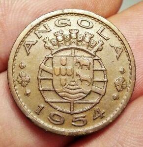 Portuguese Angola 50 centavos 1954 coin