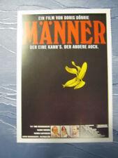 Filmplakatkarte  Männer   Heiner Lauterbach, Uwe Ochsenknecht, Ulrike Kriener
