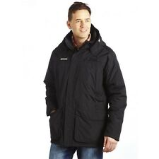 REGATTA MENS PETERS WATERPROOF PARKA INSULATED JACKET BLACK RMP126 OUTDOOR