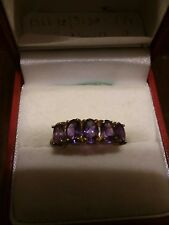 MUST SEE STUNNING 10KT GOLD AMETHYST RING SIZE 7.25
